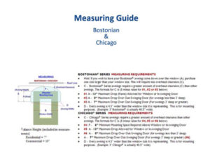 Measuring Guide Bostonian And Chicago Awnings