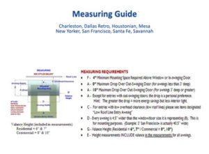 Measuring Guide Fixed Awnings